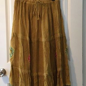 Dresses & Skirts - Tie-dye hippie One size women's skirt embroidered